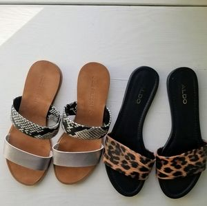 Lot of two sandals joe fresh and also size 7